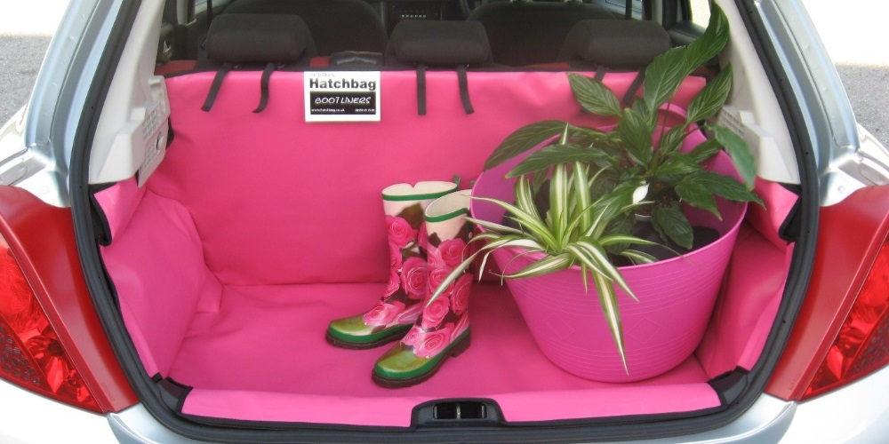 car boot with wellies