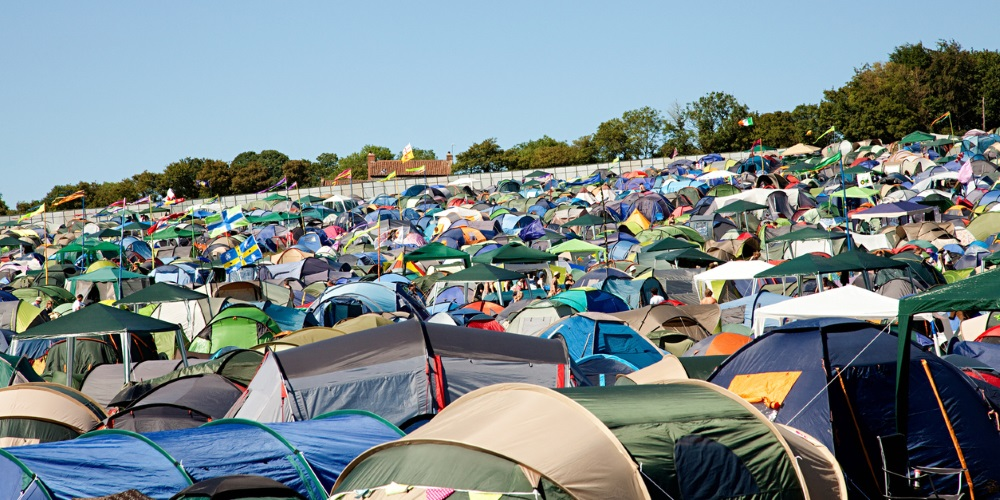 tents at festival