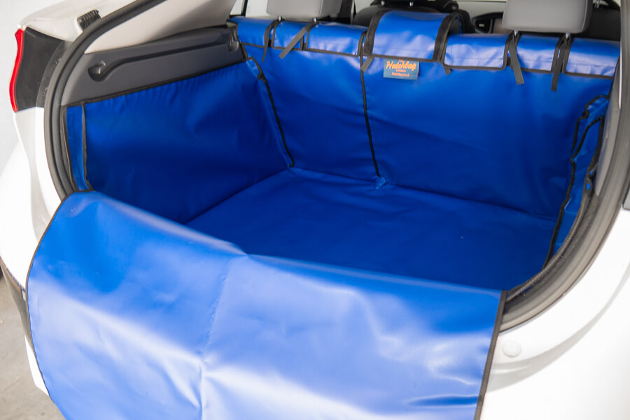 Blue boot liner for the Hyundai Ioniq 2016 onwards